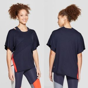 Champion Womans Asymmetrical Duo Dry Navy Top